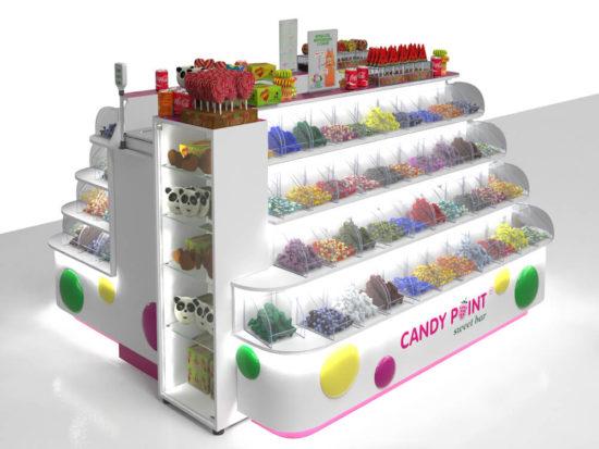 Островок с витринкой CandyPoint