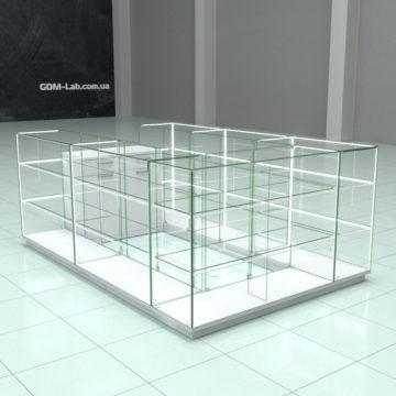 Стеклянные витрины (островок)