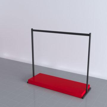 Торговая стойка для одежды с подиумом