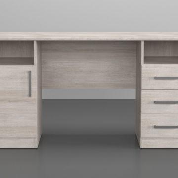Офисный стол двухтумбовый, с ящиками и дверкой