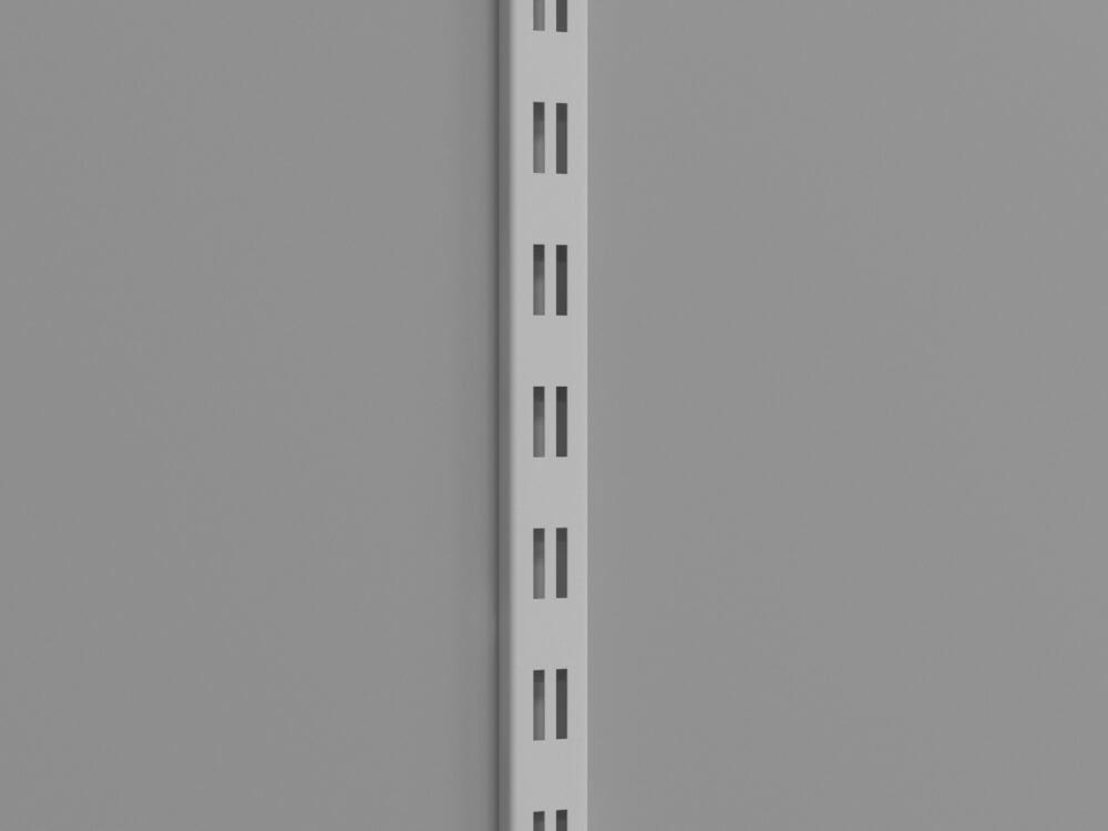 Перфорированная рейка двойная белая