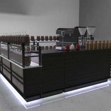 Островок для торговли кофе