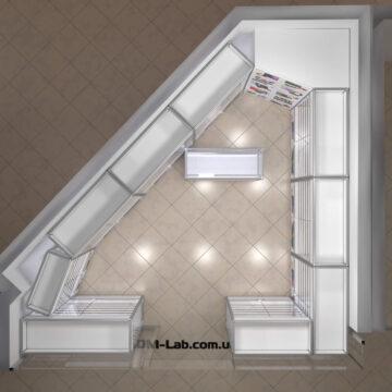Торговые витрины из алюминиевого профиля. План