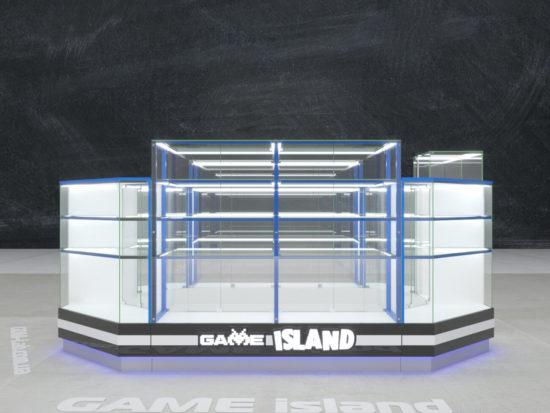 Дизайн торгового островка