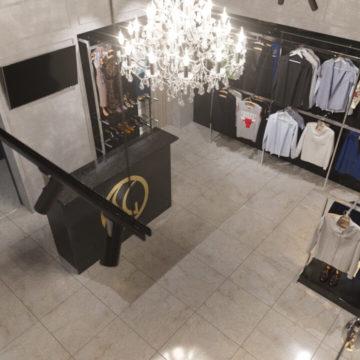Дизайн торгового оборудования для магазина одежды