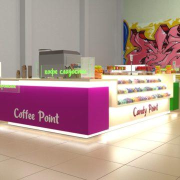 Торговый островок для торговли конфетами