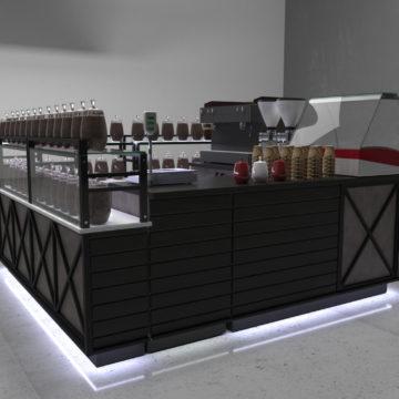 Кофейный островок в стиле лофт