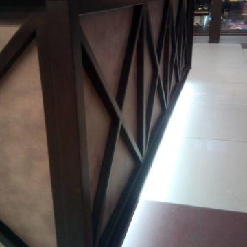 Металл в кофейне в стиле лофт