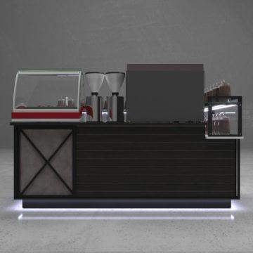 Кофейный островок Coffee Magic. Вид слева