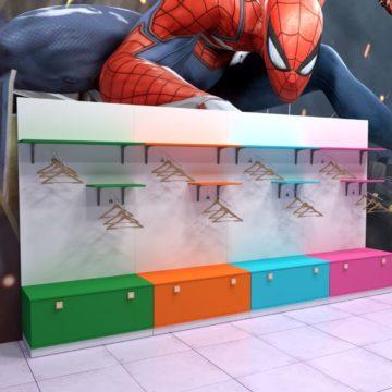 Стеллаж для детского магазина