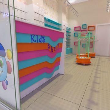 Магазин детской одежды. Ресепшн-касса