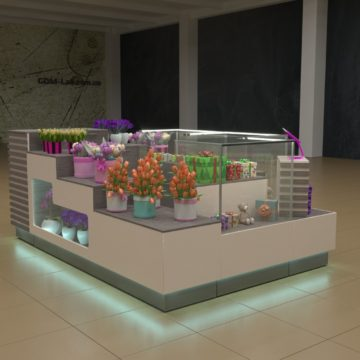 Торговый островок для цветов и подарков