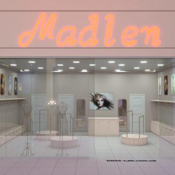 """Торговое оборудование для женского магазина одежды """"Madlen"""""""