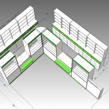 Проект мебели для аптеки