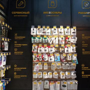 Задний шкаф и экономпанель магазина электроники и гаджетов Touch