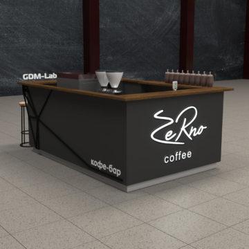 Кофейный островок Кофе-Бар. Визуализация