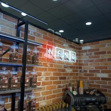 Логотип кофейни из гибкого неона