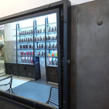 Вращающееся зеркало лофт в интерьер кофейни
