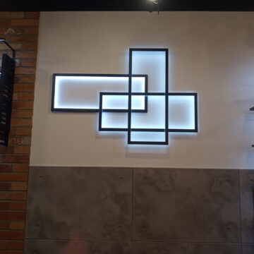 Декоративный элемент - светящиеся рамки