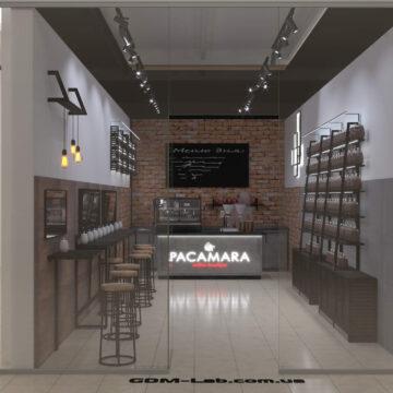 Визуализация кофейни Pacamara в Апполо-1