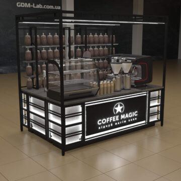 Проект кофейного островка лофт