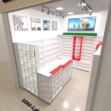 Дизайн магазина косметики