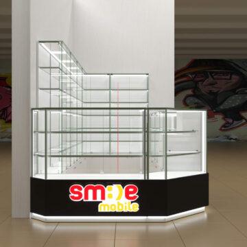 Визуализация торгового островка мобильных аксессуаров SmileMobile