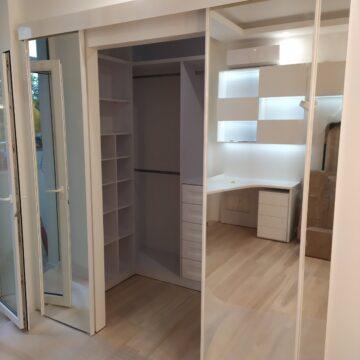 Межкомнатная раздвижная система в гардеробную комнату