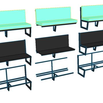 Схема сборки дивана из металла