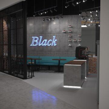 Визуализация кофейни Black