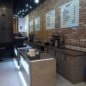 Стойки продавца для кофейни