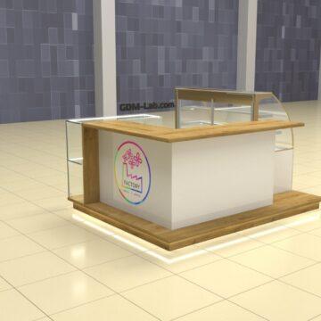 Визуализация торгового островка для цветов и декора Factory