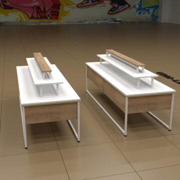 Выставочный столик-стеллаж COSM-1