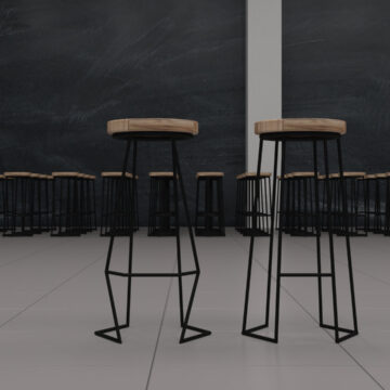 Барные стулья Angle на металлическом каркасе