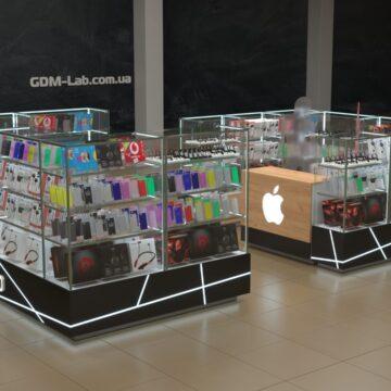 Визуализация торгового островка для техники Apple