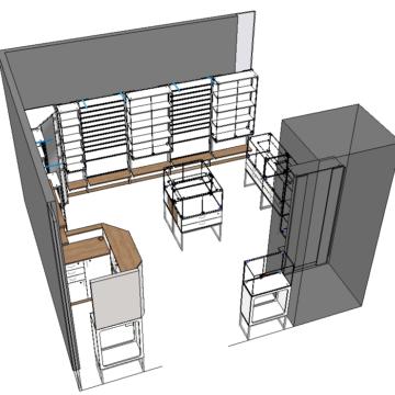 Торговое оборудование для магазина бижутерии. Проект