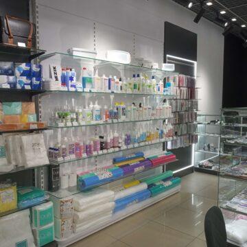 Стеллажи в магазин профессиональной косметики