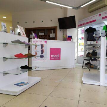 Торговое оборудование для магазина медтехники medi.ua
