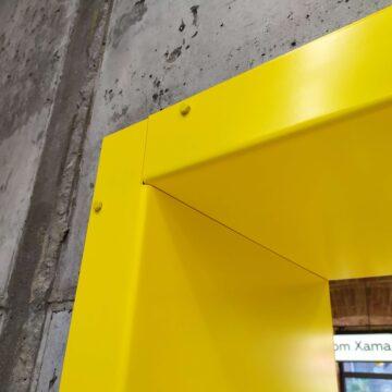 Стык облицовочных панелей из листового металла