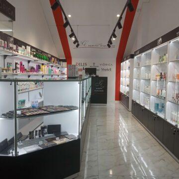 Торговое оборудование для магазинов белорусской косметики