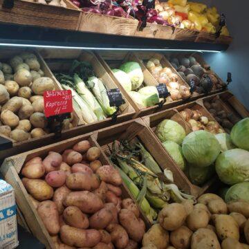 Овощной стеллаж. Полки для овощей